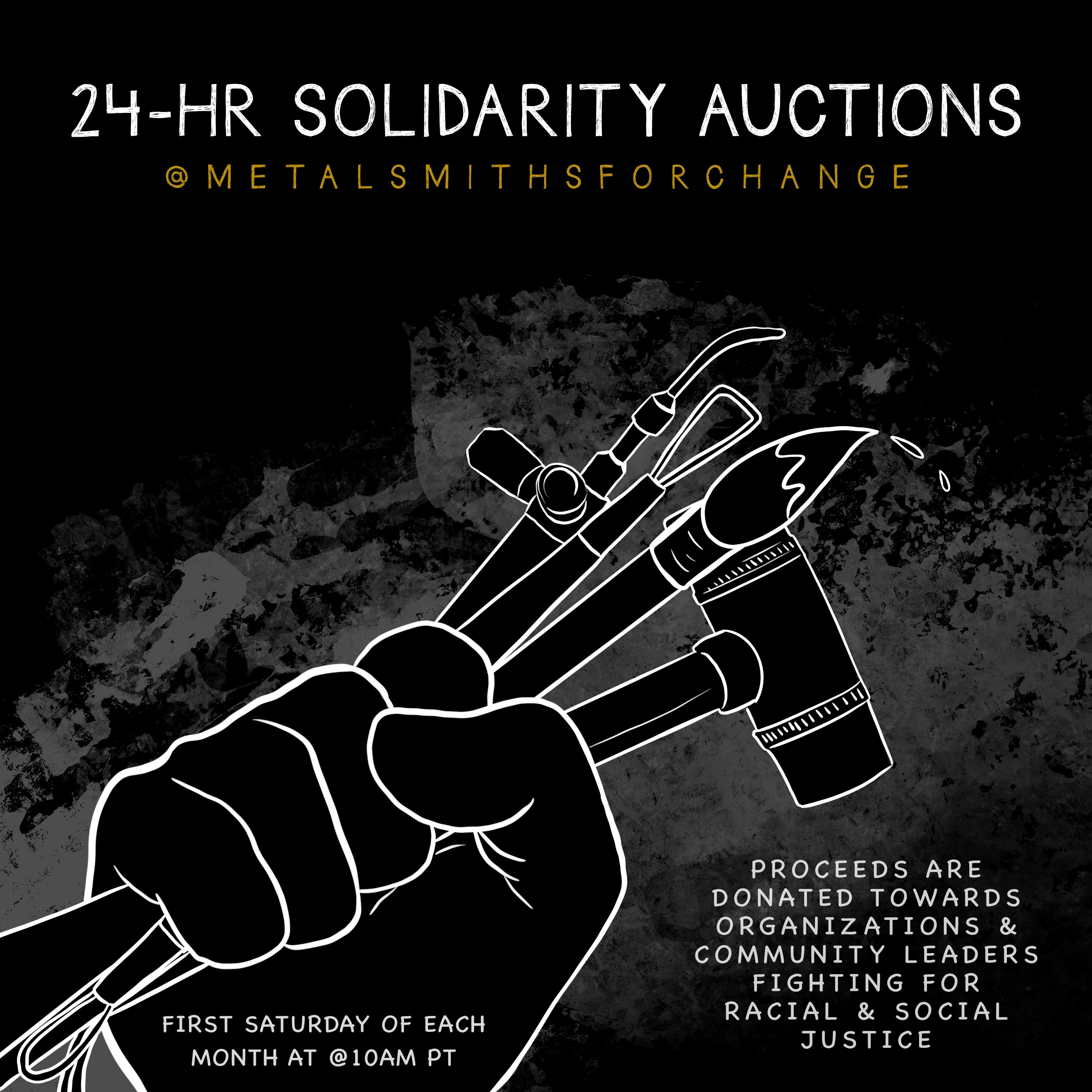 24 hr solidarity auction flyer