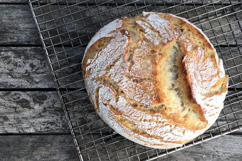 Dutch oven sourdough bread from biodynamic flour