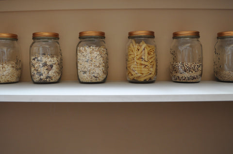 Zero waste shopping jars for pantry staples