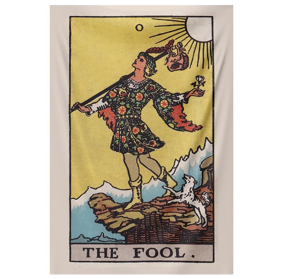 The Fool Tarot tapestry NirvanaThreads - YYT