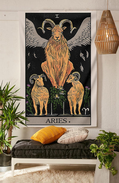 Aries Tarot Tapestry tapestry Nirvana Threads