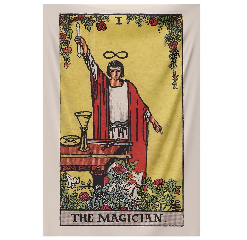 The Magician Tarot tapestry NirvanaThreads - YYT