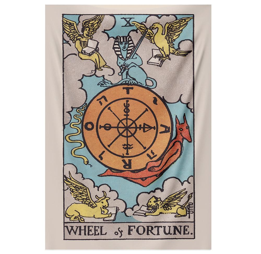 Wheel of Fortune Tapestry tapestry NirvanaThreads - YYT