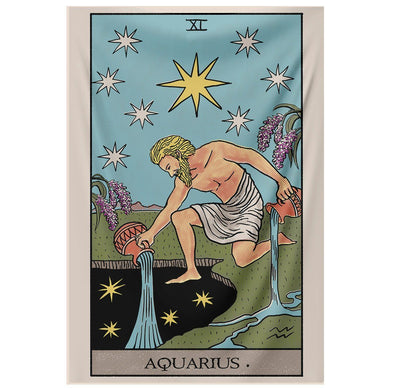 Aquarius Tarot Tapestry tapestry Nirvana Threads