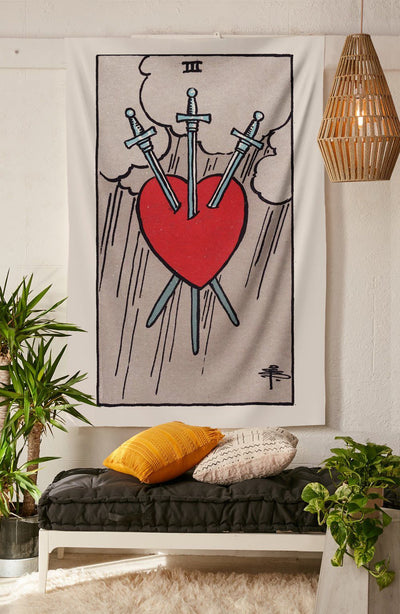 3 of Swords Tapestry tapestry NirvanaThreads