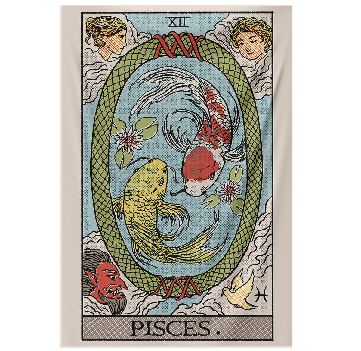 Pisces Tarot Tapestry tapestry Nirvana Threads