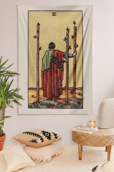 3 of Wands Tapestry tapestry NirvanaThreads