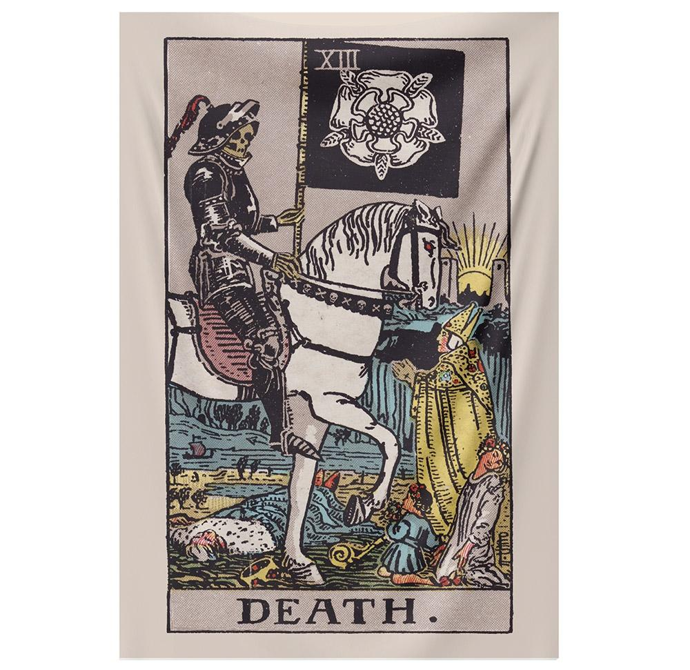 Death Tarot Tapestry tapestry NirvanaThreads - YYT