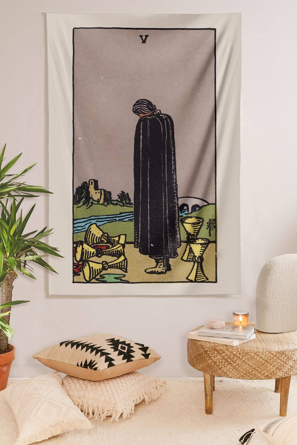 5 of Cups Tapestry tapestry NirvanaThreads