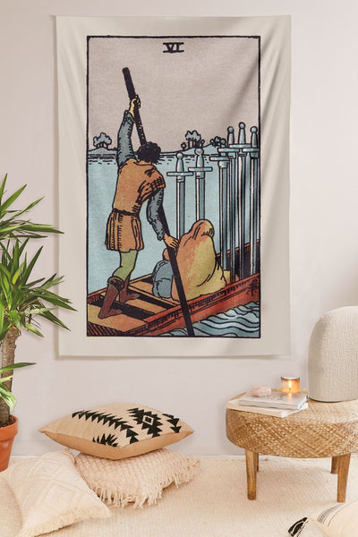 6 of Swords Tapestry tapestry NirvanaThreads