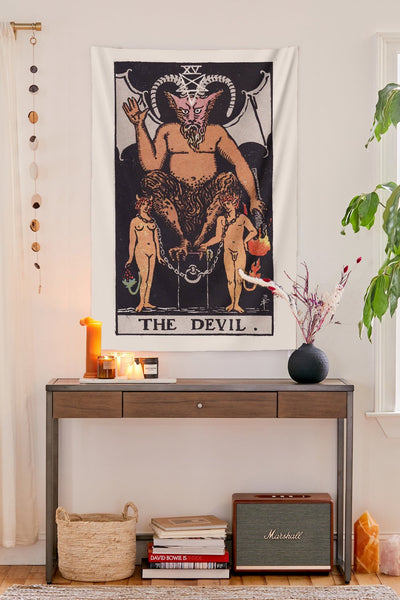 The Devil Tapestry tapestry NirvanaThreads - YYT NATURAL / 60x40cm150x100 cm