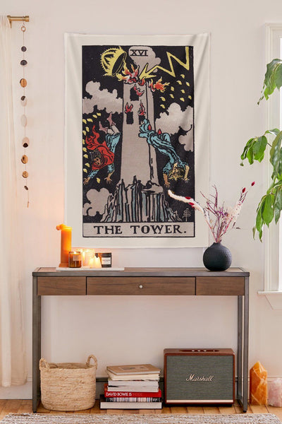The Tower Tapestry tapestry NirvanaThreads - YYT
