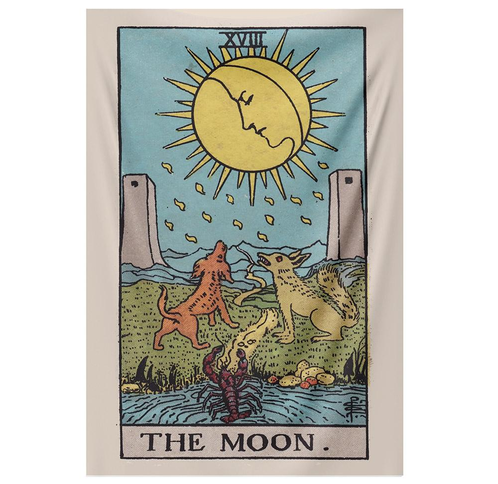 The Moon Tapestry (RWS) tapestry NirvanaThreads - YYT