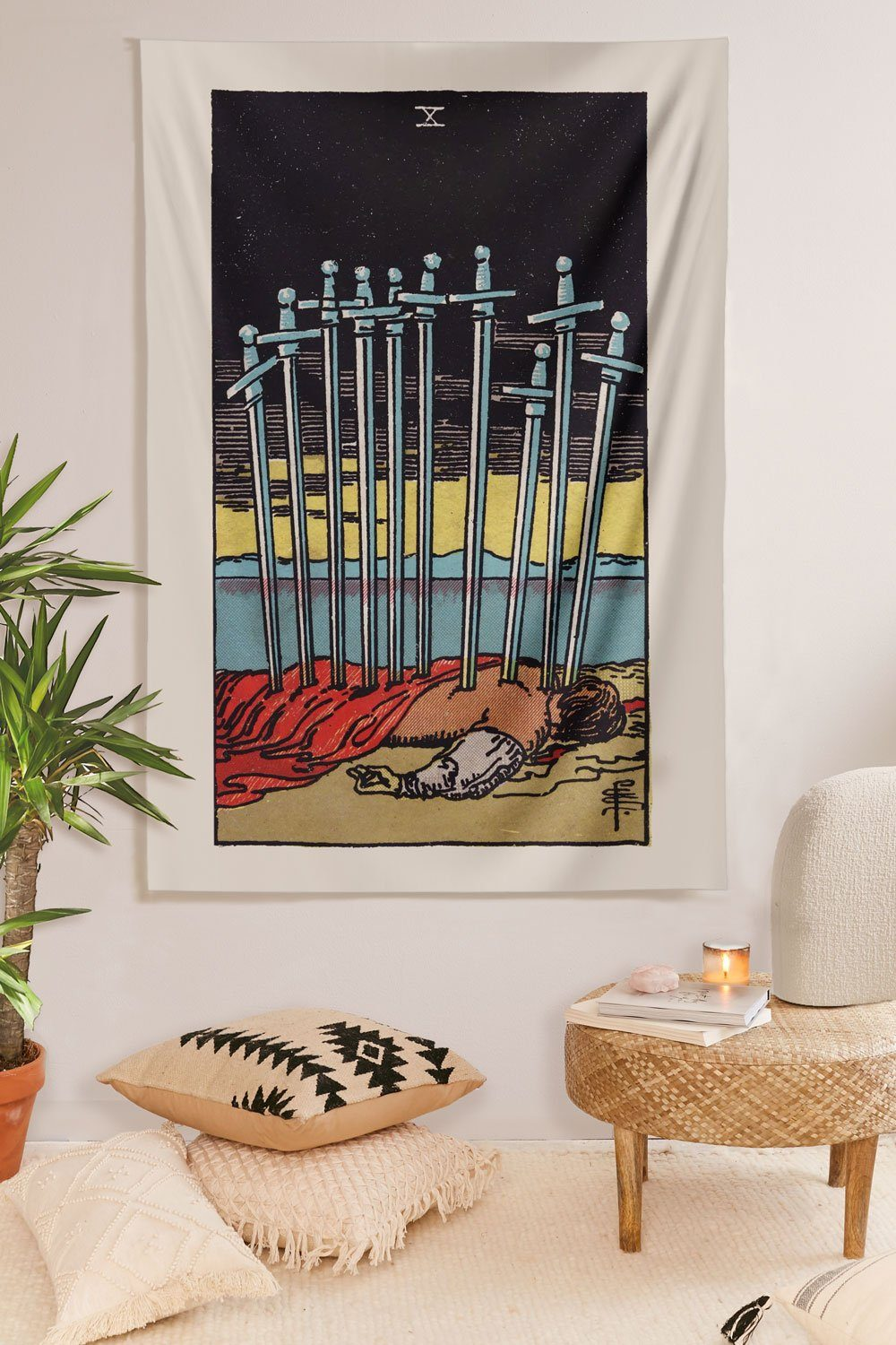10 of Swords Tapestry tapestry NirvanaThreads