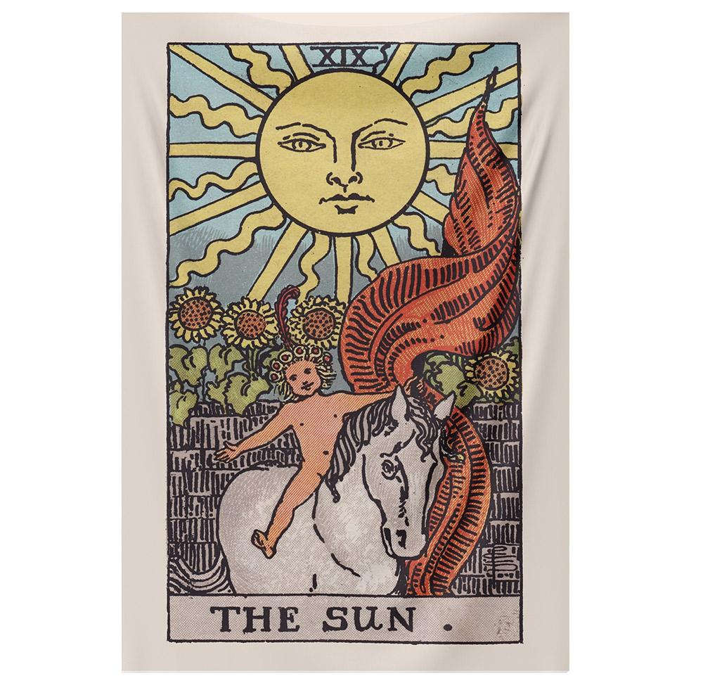 The Sun Tapestry (RWS) tapestry NirvanaThreads - YYT
