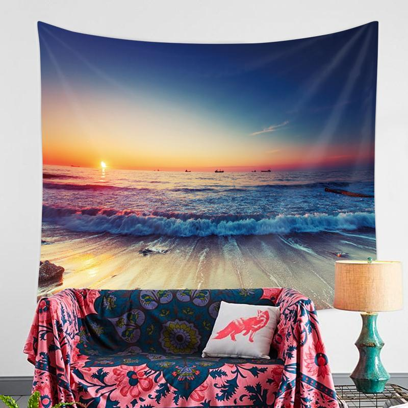 Sunset Beach Tapestry-nirvanathreads