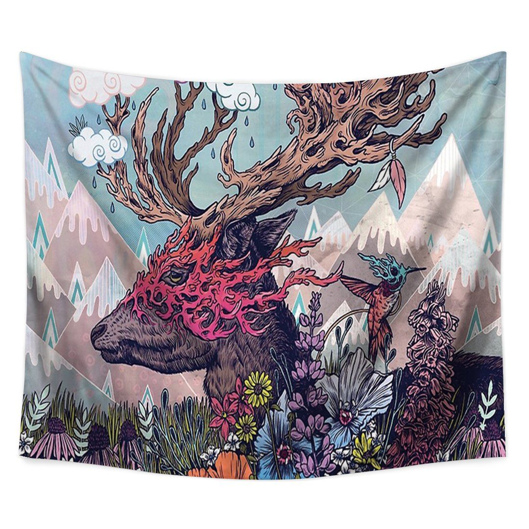 Dream Elk Tapestry-nirvanathreads