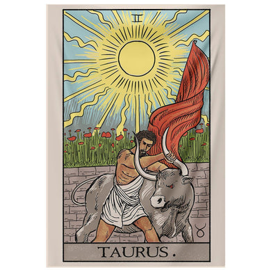 Taurus Tarot Tapestry tapestry Nirvana Threads