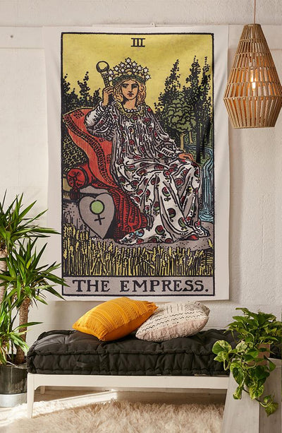 The Empress Tarot tapestry NirvanaThreads - YYT