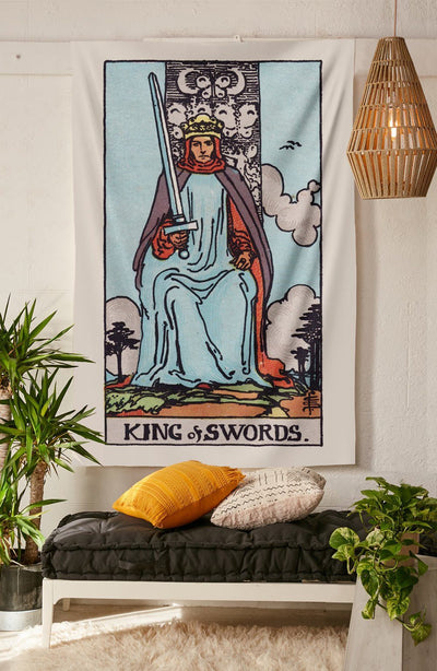 King of Swords Tapestry tapestry NirvanaThreads