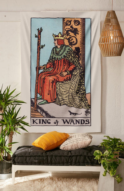 King of Wands Tapestry tapestry NirvanaThreads