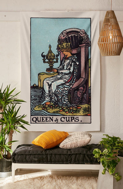 Queen of Cups Tapestry tapestry NirvanaThreads