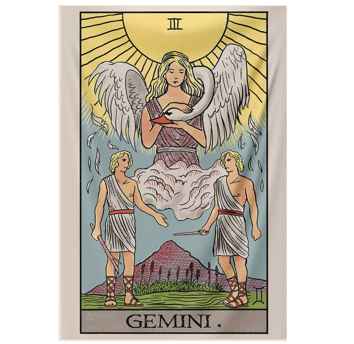 Gemini Tarot Tapestry tapestry Nirvana Threads