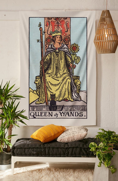 Queen of Wands Tapestry tapestry NirvanaThreads