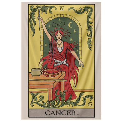 Cancer Tarot Tapestry tapestry Nirvana Threads