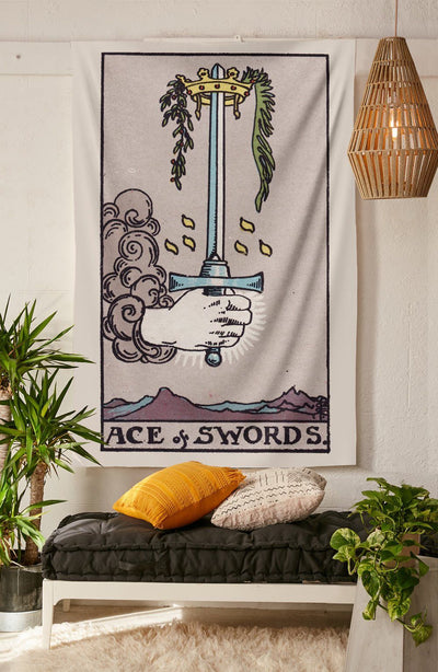 Ace of Swords Tapestry tapestry NirvanaThreads