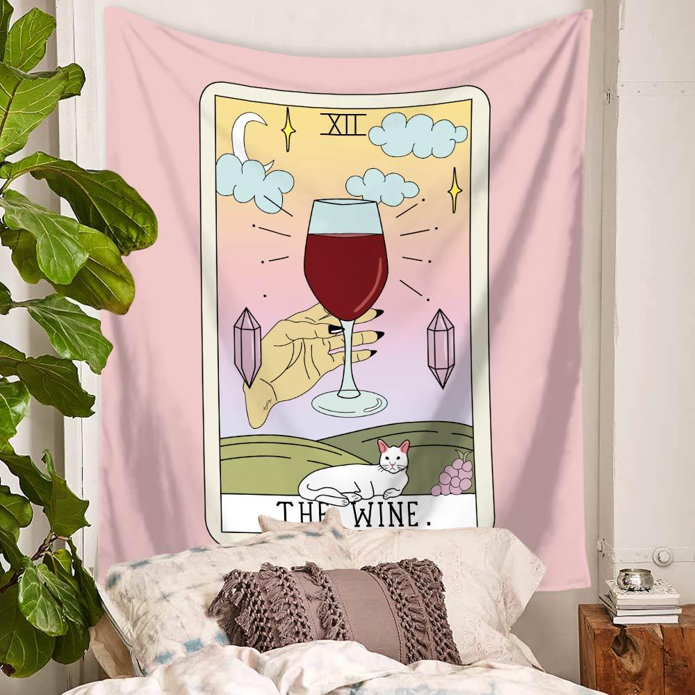 Wine Tarot Tapestry-nirvanathreads