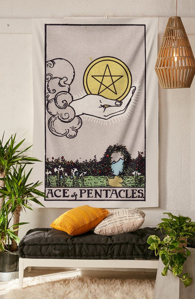 Ace of Pentacles Tapestry tapestry NirvanaThreads
