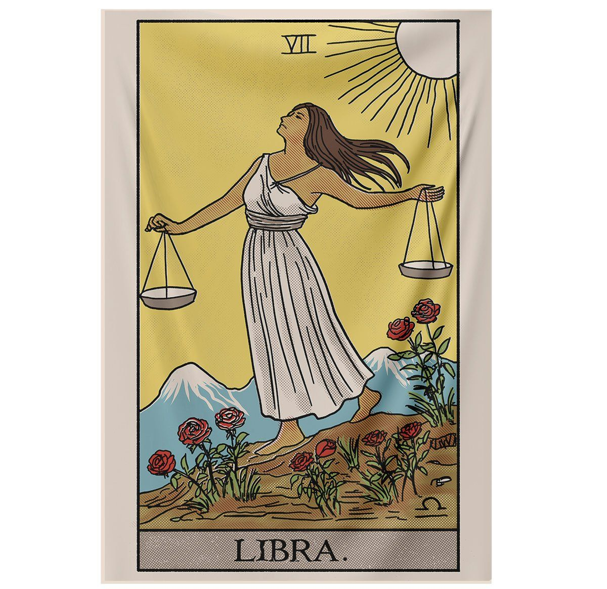 Libra Tarot Tapestry tapestry Nirvana Threads