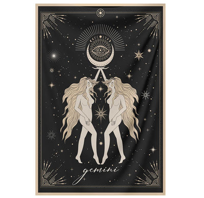 The-Gemini Tapestry-is-a-great-gift-to-say-I-love-you-but-I-also-love-astrology-tarot-wall-hanging-boho-bedroom-zodiac-vibes-from-NirvanaThreads-Nirvana-Threads