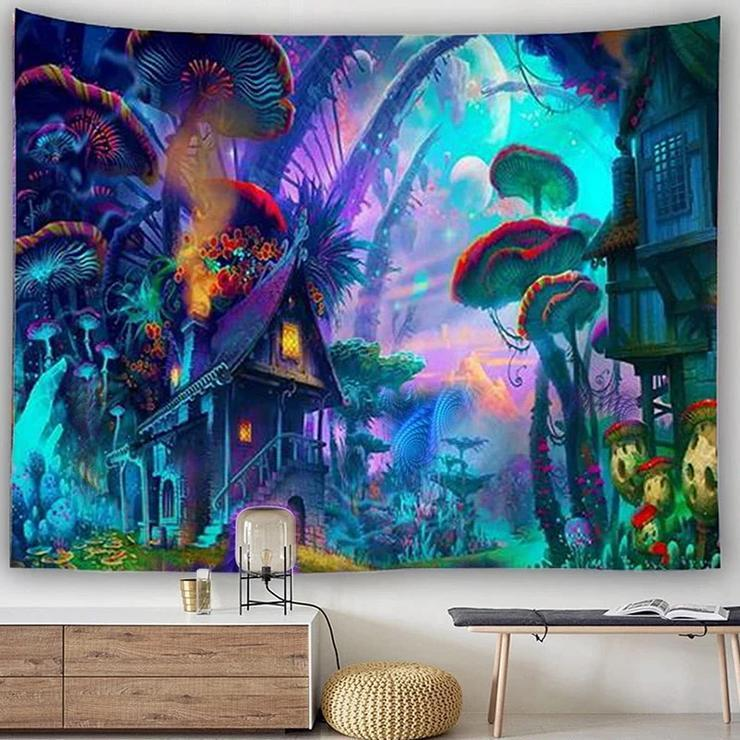 Lost In Wonderland Tapestry tapestry nirvanathreads
