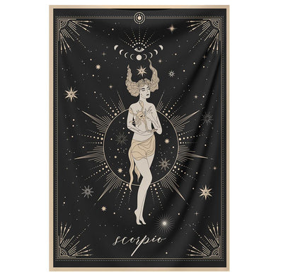 The-Scorpio Tapestry-is-a-great-gift-to-say-I-love-you-but-I-also-love-astrology-tarot-wall-hanging-boho-bedroom-zodiac-vibes-from-NirvanaThreads-Nirvana-Threads