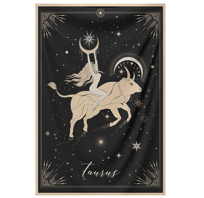 The-Taurus Tapestry-is-a-great-gift-to-say-I-love-you-but-I-also-love-astrology-tarot-wall-hanging-boho-bedroom-zodiac-vibes-from-NirvanaThreads-Nirvana-Threads