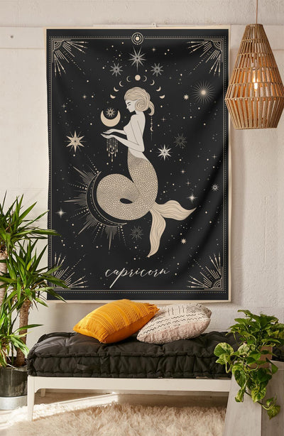 The-Capricorn Tapestry-is-a-great-gift-to-say-I-love-you-but-I-also-love-astrology-tarot-wall-hanging-boho-bedroom-zodiac-vibes-from-NirvanaThreads-Nirvana-Threads