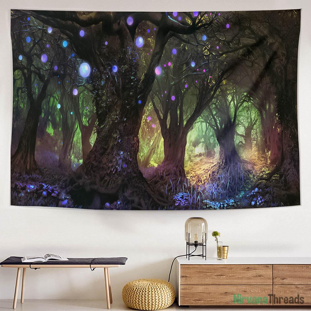 Floating Forest Tapestry-nirvanathreads