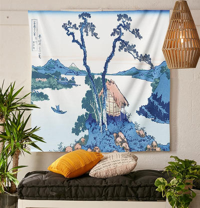 Japanese Lake Tapestry-nirvanathreads