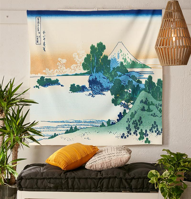 Japanese Landscape Tapestry-nirvanathreads