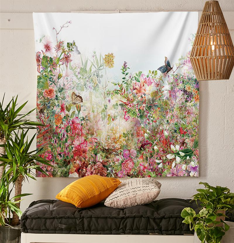 Flower Garden Tapestry-nirvanathreads