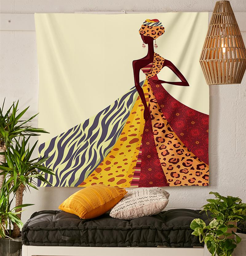 African Queen Tapestry-nirvanathreads