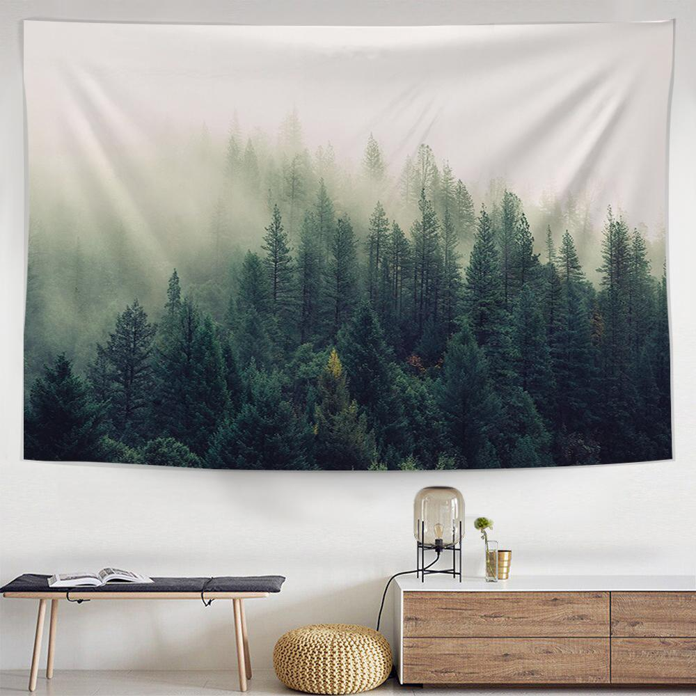 Misty Forest Tapestry-nirvanathreads