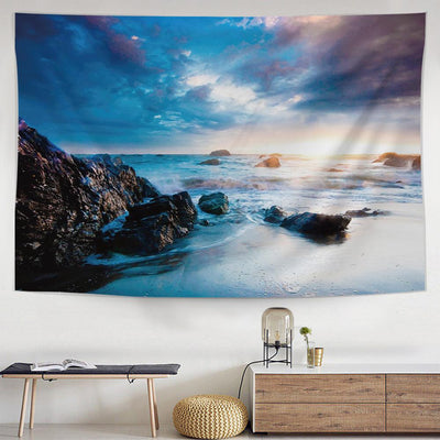 Serene Tide Tapestry-nirvanathreads
