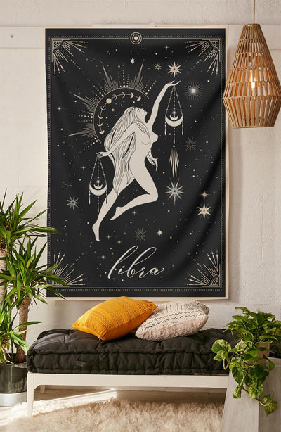 The-Libra Tapestry-is-a-great-gift-to-say-I-love-you-but-I-also-love-astrology-tarot-wall-hanging-boho-bedroom-zodiac-vibes-from-NirvanaThreads-Nirvana-Threads