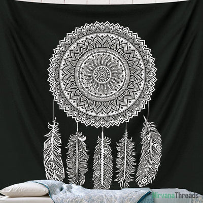 Dreamcatcher Mandala Tapestry-nirvanathreads
