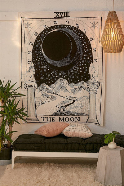 Moon Tarot Tapestry tapestry nirvanathreads