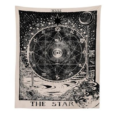 Star Tarot Tapestry tapestry nirvanathreads 60 x 40 inches