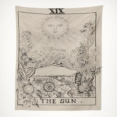 Sun Tarot Tapestry tapestry nirvanathreads 60 x 40 inches